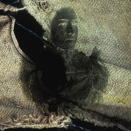 Claudia Nierman: 'Whispers on jute', 1995 Cibachrome Photograph, Fantasy. Artist Description:  Part of a Series on phantoms.This image is also available printed on canvas 57 x 80; and in cibachrom 32x 45. ...