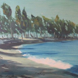 Ted Hammer: 'Bahama', 1980 Oil Painting, Seascape.