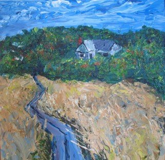Landscape Acrylic Painting by Ted Hammer Title: Going Home, created in 2008