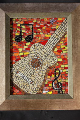Joseph And Sons Mosaics Artwork guitar mosaic, 2014 guitar mosaic, Music