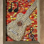 guitar mosaic By Joseph And Sons Mosaics