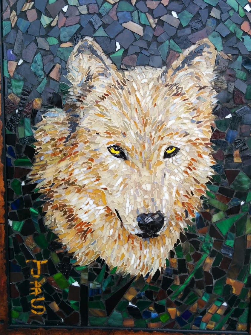 Joseph And Sons Mosaics Artwork Wolf Mosaic Original