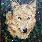 wolf mosaic By Joseph And Sons Mosaics
