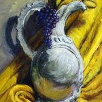 Grapes Bananas Vase Still Life By Lucille Coleman