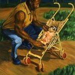 Man Tending Baby, Lucille Coleman