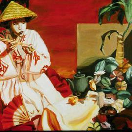 Oriental Still Life and Figure