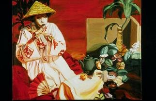 Lucille Coleman: 'Oriental Still Life and Figure', 2006 Oil Painting, Figurative. This is simultaneously a figurative and still life painting of a tea ceremony. A(c)2006 Lucille Coleman...