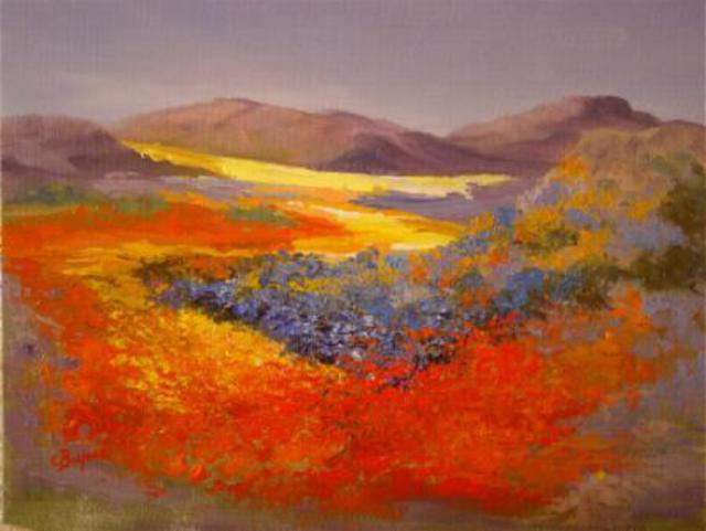 Colleen Balfour  'Namaqualand Dream', created in 2009, Original Painting Oil.