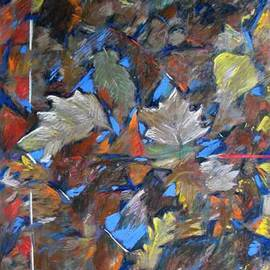 Leaves around an Icon of Sky By Bernard Collet