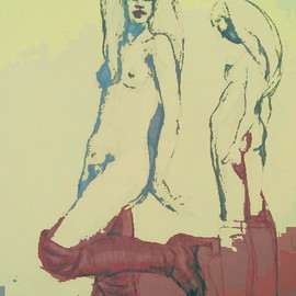 Nude In Red Boots, Marc Rubin