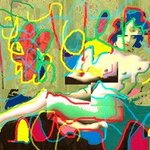 Reclining Nude After Matisse and Miro By Marc Rubin