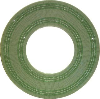 Connie Patterson: 'Single Charm round mirror green color', 2015 Woodworking Art, nature. Artist Description:  Single Charm round mirror green color, Single Charm round mirror, green color round mirror, green round mirror, round mirror, mosaic round mirror, green mosaic round mirror. ...