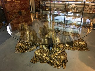 Manfred Kielnhofer: 'glass guardian table', 2017 Ceramic Sculpture, Figurative. Artist Description: rent. masterart. org...