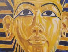 - artwork KING_TUTANKHAMUNS_REPOSE-1308106934.jpg - 2011, Painting Acrylic, Figurative