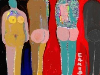 Carlos Camus: 'figuras', 2010 Digital Painting, Abstract. arte, pintura, original, decoraciA3n, regalo...