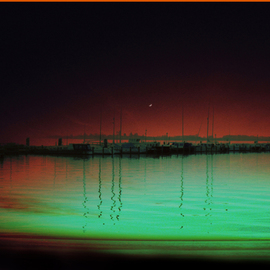 Corrie Ancone: 'NIGHTS SLEEP', 2010 Color Photograph, Landscape. Artist Description:      photographic overlay   photographic overlay  ...