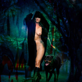 Corrie Ancone: 'NakedLady 16', 2012 Color Photograph, nudes. Artist Description: photographic overlay & manipulationphotographic overlaynude figurative ...