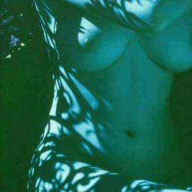 Corrie Ancone Artwork blue nude, 2000 Color Photograph, Nudes