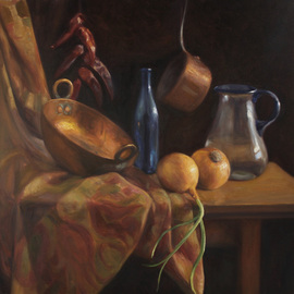 Angel Astorga: 'Bodegon XIV', 2008 Oil Painting, Still Life.
