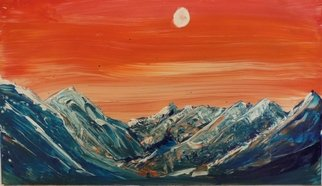 Edward Bolwell: 'Red Mountains', 2017 Acrylic Painting, Abstract Landscape. Artist Description: Acrylic on MDF...