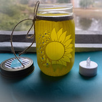 sunflower craft jar By Amber Coombe