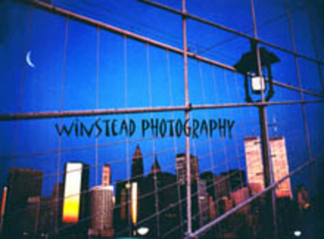 Jimmy Winstead  'LOWER MANHATTAN FROM BROOKLYN BRIDGE', created in 1985, Original Photography Color.