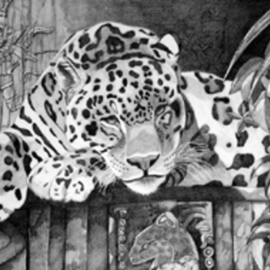 Camacho Mercilla Artwork Pasting the time, 2007 Pencil Drawing, Animals