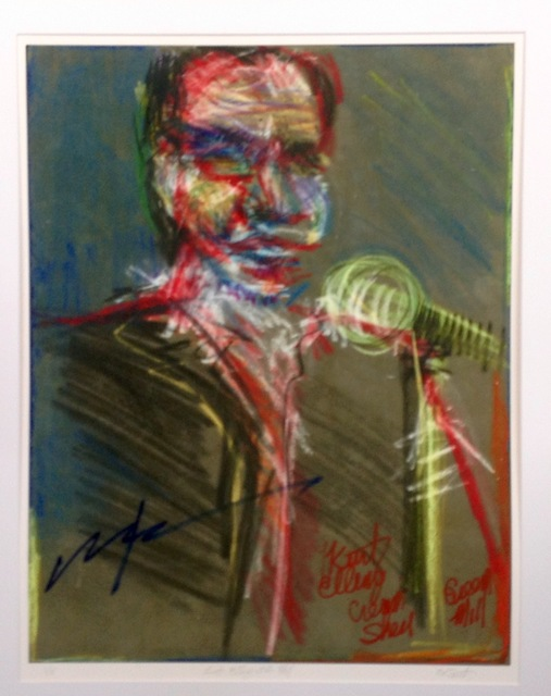 Sheri Smith  'Kurt Elling At The Green Mill', created in 2014, Original Printmaking Etching.