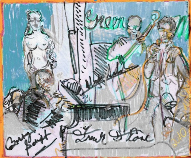 Sheri Smith  'Frank D Rone At The Green Mill', created in 2010, Original Printmaking Etching.