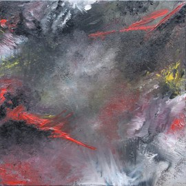 Claire Collins: 'Unknown suffusion', 2009 Oil Painting, Cosmic.