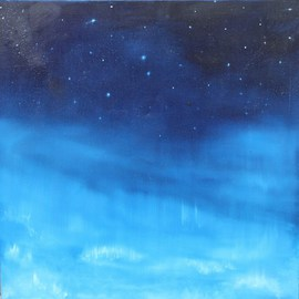 Claire Collins: 'Upper limits', 2009 Oil Painting, Cosmic.