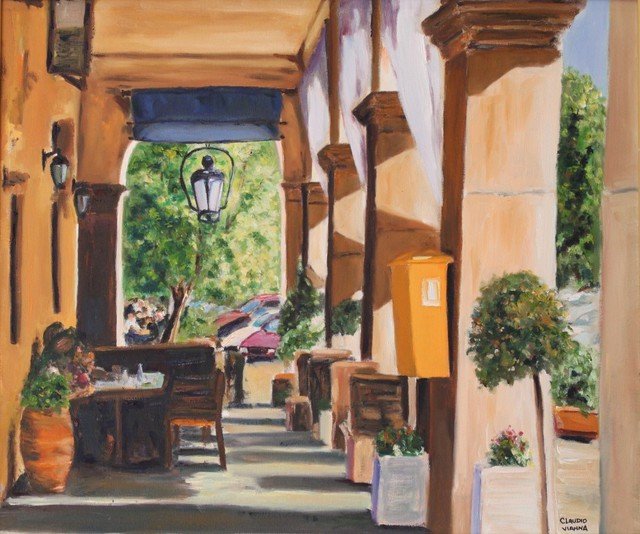 Claudio Vianna  'Varanda Em Corfu', created in 2009, Original Painting Oil.