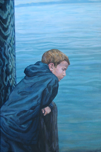 David Cuffari  'Boy By The Water', created in 2004, Original Mixed Media.