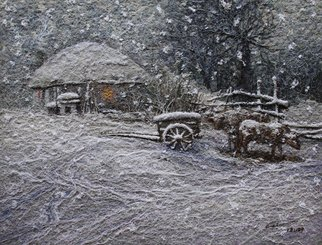 Choi Byeonghen: 'A curving silk of painting,Warm snow series', 2012 Other Painting, Seasons.  Original The world's only A curving silk of painting Warm snow series ...