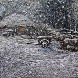 Choi Byeonghen: 'A curving silk of painting,Warm snow series', 2012 Other Painting, Seasons. Artist Description:  Original The world's only A curving silk of painting Warm snow series ...
