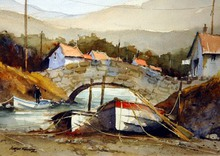 - artwork Beached_Dinghies-1357163227.jpg - 2012, Watercolor, undecided
