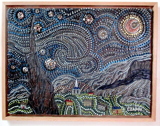 Bill Czappa  'Starry Starry Night', created in 2020, Original Assemblage.