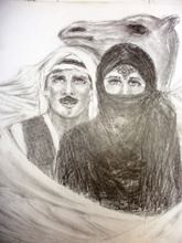 - artwork Love_In_The_Desert-1320037698.jpg - 2001, Drawing Charcoal, Figurative