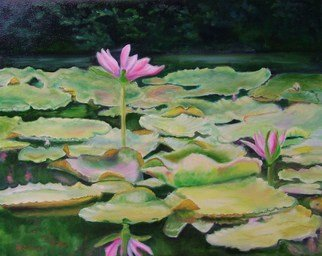 Artist: Debra Derouen - Title: MY LILLIES - Medium: Oil Painting - Year: 2008