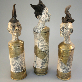 Dirk Dahl Artwork Raku cylinders, 2013 Handbuilt Ceramics, undecided
