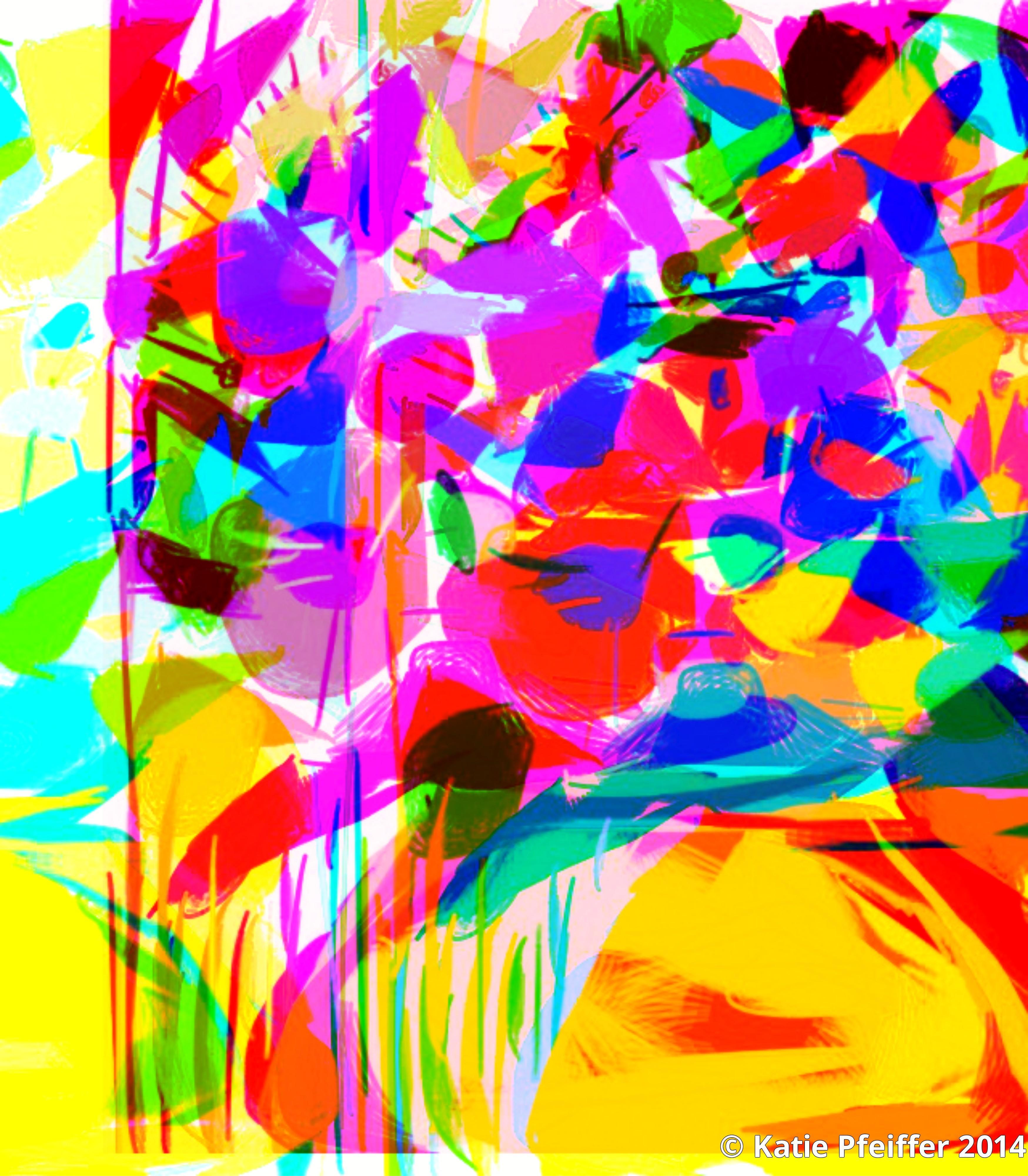 katie pfeiffer artwork  abstract flower bouquet
