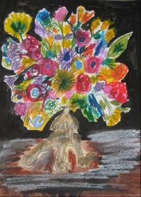 Katie Pfeiffer Artwork Flower Bouquet, 2009 Mixed Media, Fauna