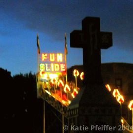 Katie Pfeiffer Artwork Fun Slide , 2014 Color Photograph, Death