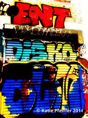 Artist: Katie Pfeiffer - Title: Graffiti Wal Number Four Disko Butt - Medium: Color Photograph - Year: 2014