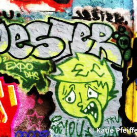 Katie Pfeiffer Artwork Graffiti Wall Number Three Jester, 2014 Color Photograph, Urban