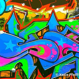 Katie Pfeiffer Artwork Graffiti Wall Number Two, 2014 Color Photograph, Urban