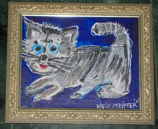 Cats Acrylic Painting by Katie Pfeiffer Title: HUGO SUPERSTAR GOD OF LOVE, created in 2008