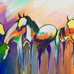four horses By Damini Grover