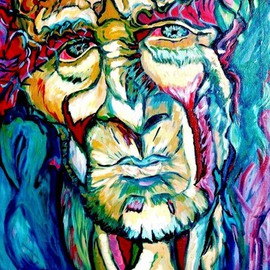 Daniela Isache: 'Mysterious Old Man', 2008 Oil Painting, Figurative.