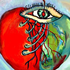 Daniela Isache Artwork The Look of an Apple, 2010 Oil Painting, Inspirational